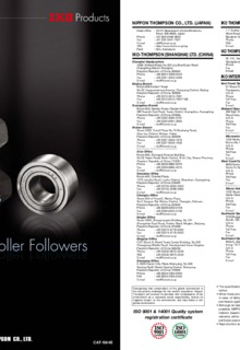 cam roller followers