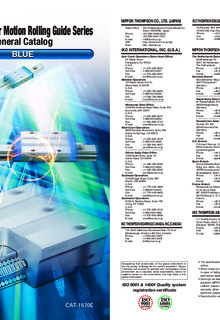 IKO - Linear Motion Rolling Guide Series - General Catalog - BLUE