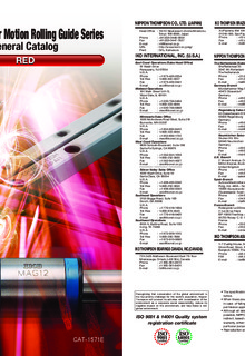 IKO - Linear Motion Rolling Guide Series - General Catalog - RED